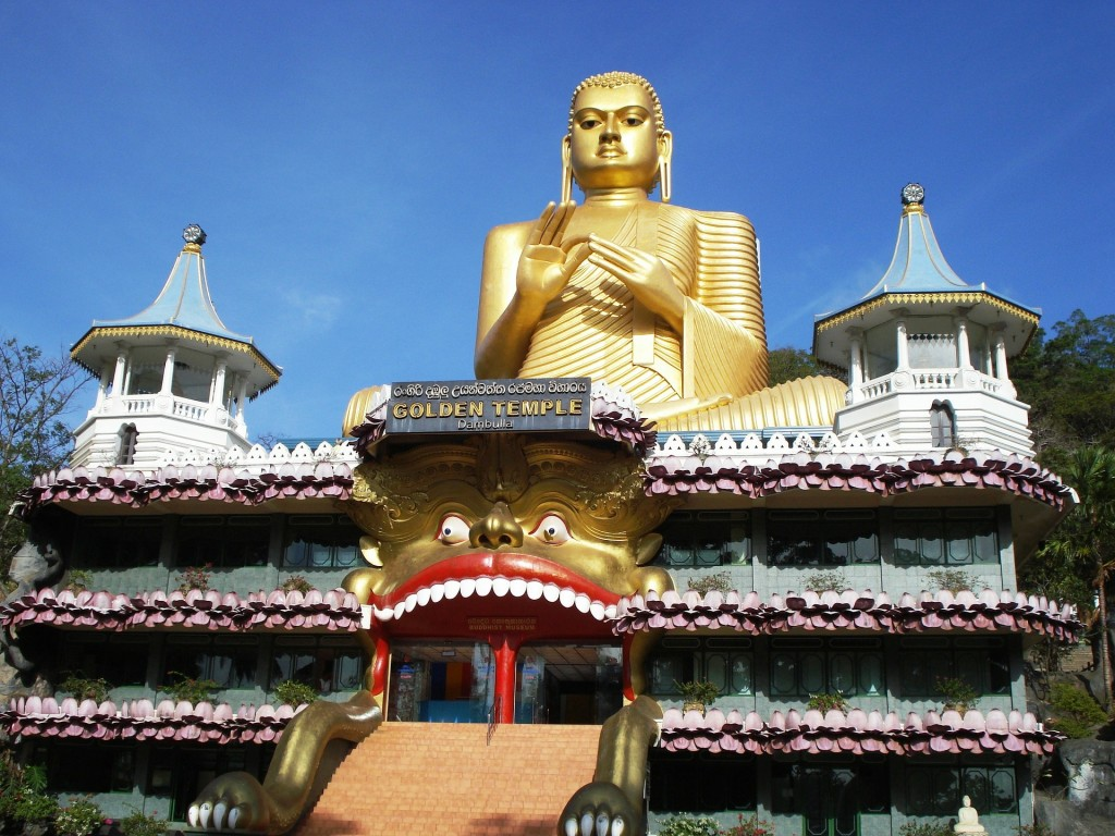 スリランカの世界遺産:ダンブッラの黄金寺院