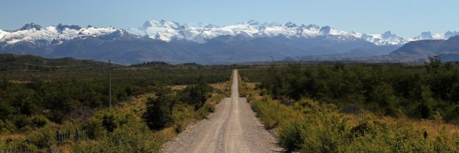 南部パタゴニアの陸路の国境で入国