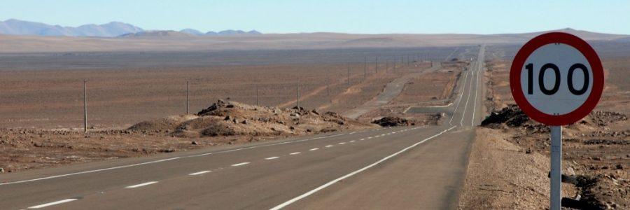 アルゼンチンとチリの陸路の国境で入国