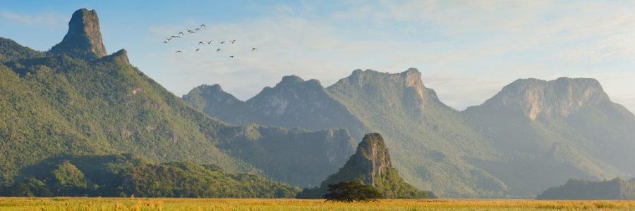 タイとラオスの陸路の国境で入国