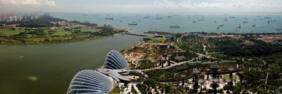 シンガポールとインドネシアの陸路の国境で入国