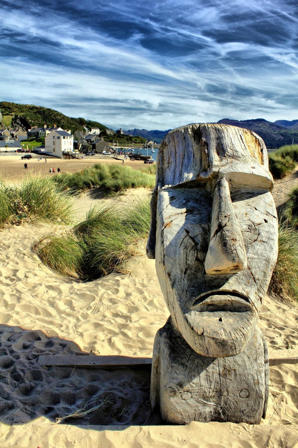 チリの世界遺産:イースター島のモアイ
